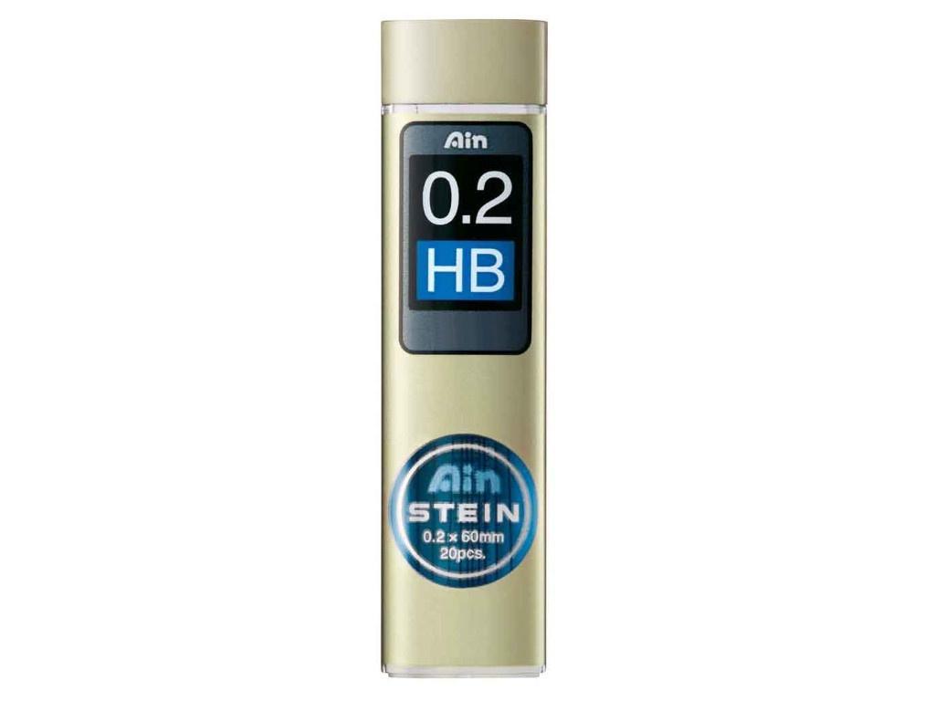 Грифель Pentel Ain Stein 0.2mm 20шт C272W-HB