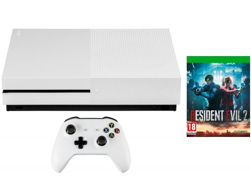 Игровая приставка Microsoft Xbox One S 1Tb White + Resident Evil 2