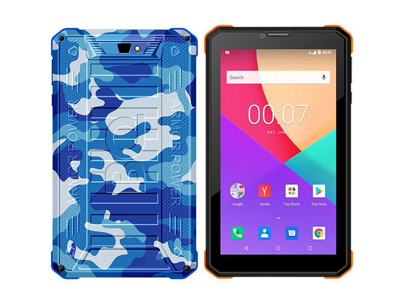 Планшет BQ 7098G Armor Power Cammo Sea (Unisoc SC7731E 1.3GHz/1024Mb/8Gb/3G/GPS/Wi-Fi/Bluetooth/Cam/7.0/1024x600/Android)