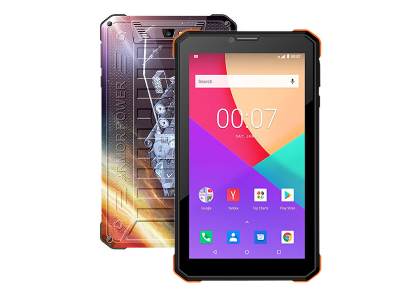 Планшет BQ 7098G Armor Power Print 3 (Unisoc SC7731E 1.3GHz/1024Mb/8Gb/3G/GPS/Wi-Fi/Bluetooth/Cam/7.0/1024x600/Android)