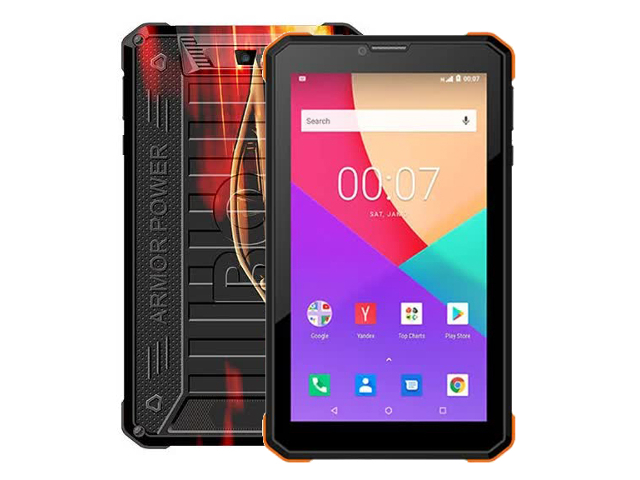 Планшет BQ 7098G Armor Power Print 5 (Unisoc SC7731E 1.3GHz/1024Mb/8Gb/3G/GPS/Wi-Fi/Bluetooth/Cam/7.0/1024x600/Android)