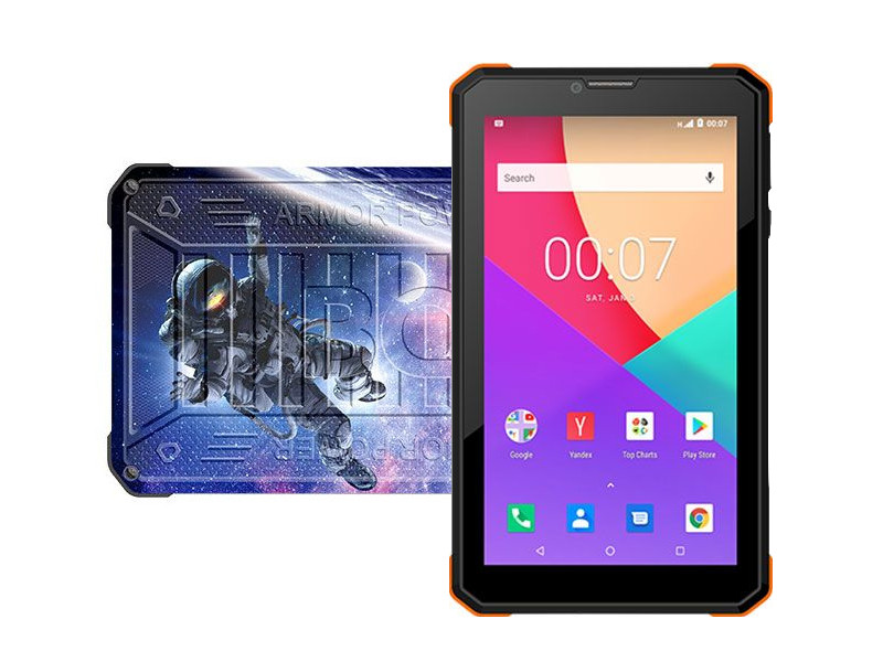 Планшет BQ 7098G Armor Power Print 7 (Unisoc SC7731E 1.3GHz/1024Mb/8Gb/3G/GPS/Wi-Fi/Bluetooth/Cam/7.0/1024x600/Android)