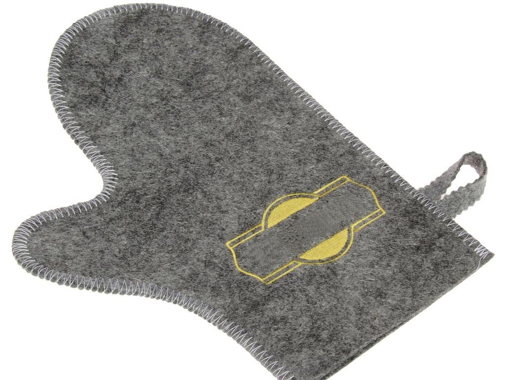 Рукавица банная Добропаровъ Grey-Gold 3341050