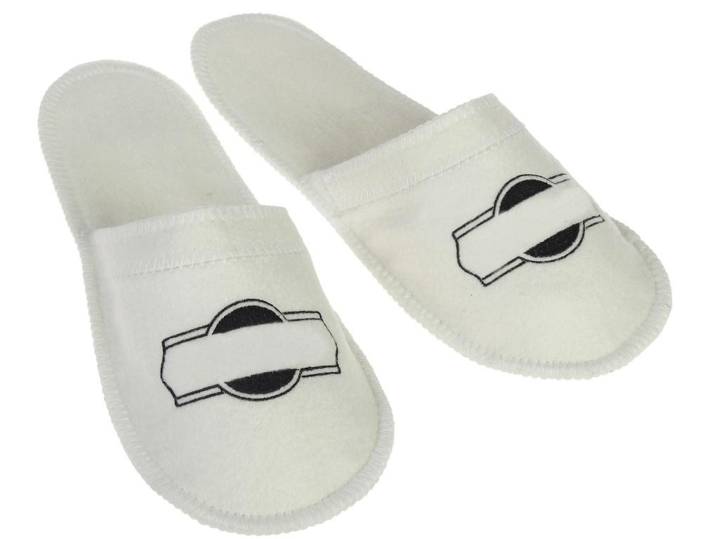 Тапочки для бани Добропаровъ White-Black 3341053
