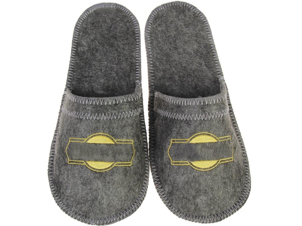 Тапочки для бани Добропаровъ Grey-Gold 3341054