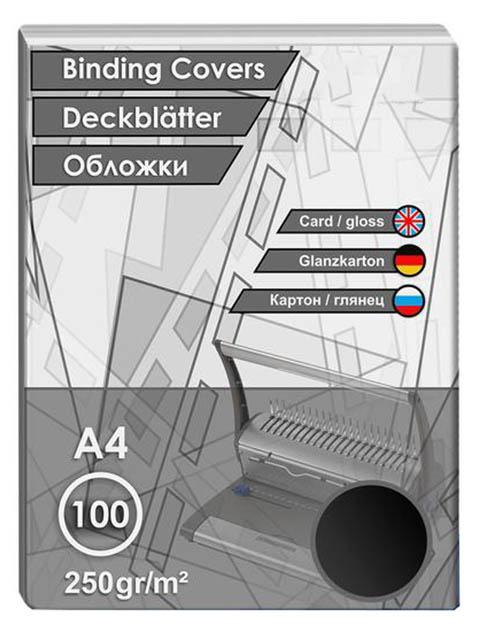 Обложки для переплета ProfiOffice A4 250g/m2 100шт Картон Black 31360