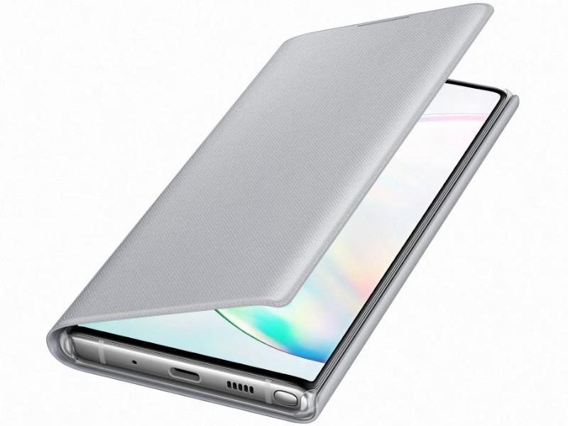 Чехол для Samsung Galaxy N970 LED-View Silver EF-NN970PSEGRU