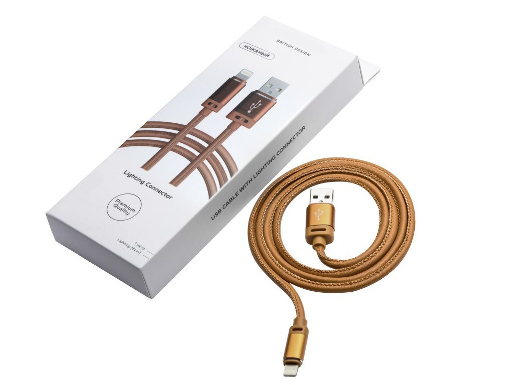 Аксессуар Kruglov USB - Lighting 8pin 1m Beige 6961136029072 аксессуар inkax usb lighting 8pin ck 20 ip white