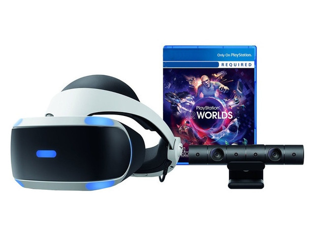 Шлем виртуальной реальности Sony PlayStation VR CUH-ZVR2 + Camera V2 + PS VR Worlds PS719782216 цена