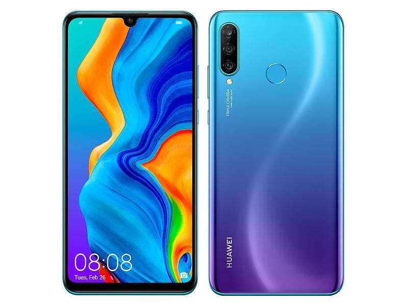 Сотовый телефон Huawei P30 Lite 4Gb/128Gb Peacock Blue & Wireless Headphones Выгодный набор + серт. 200Р!!!