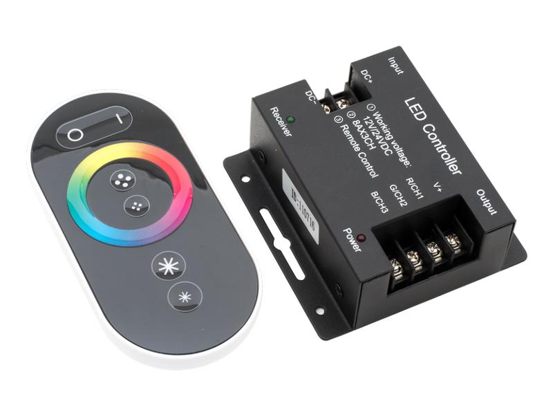 цена на Контроллер SWGroup LED Controller Touch Deluce 12/24V 24A RF-RGB-S-24A 00000000936