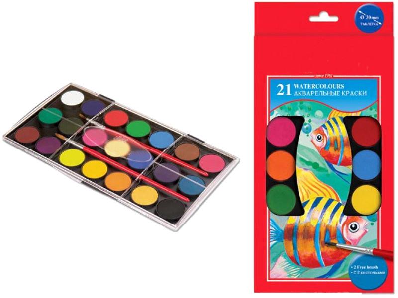 Краски акварельные Faber-Castell 21 цвет 125021