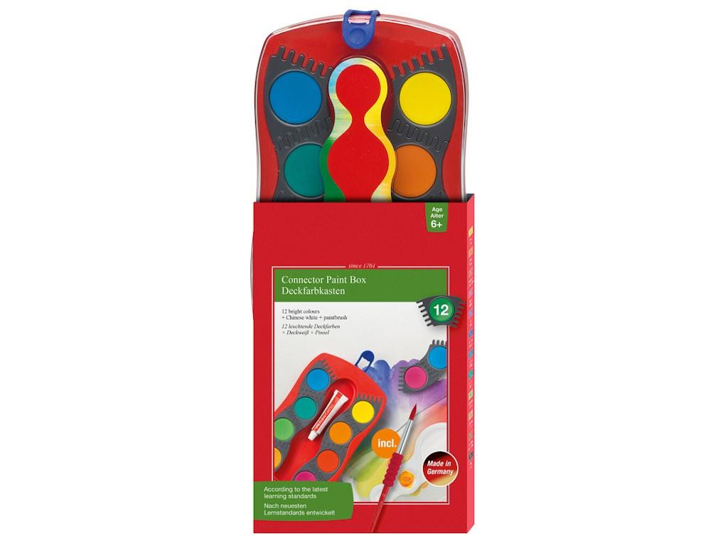 Краски акварельные Faber-Castell Connector 12 цветов 125023