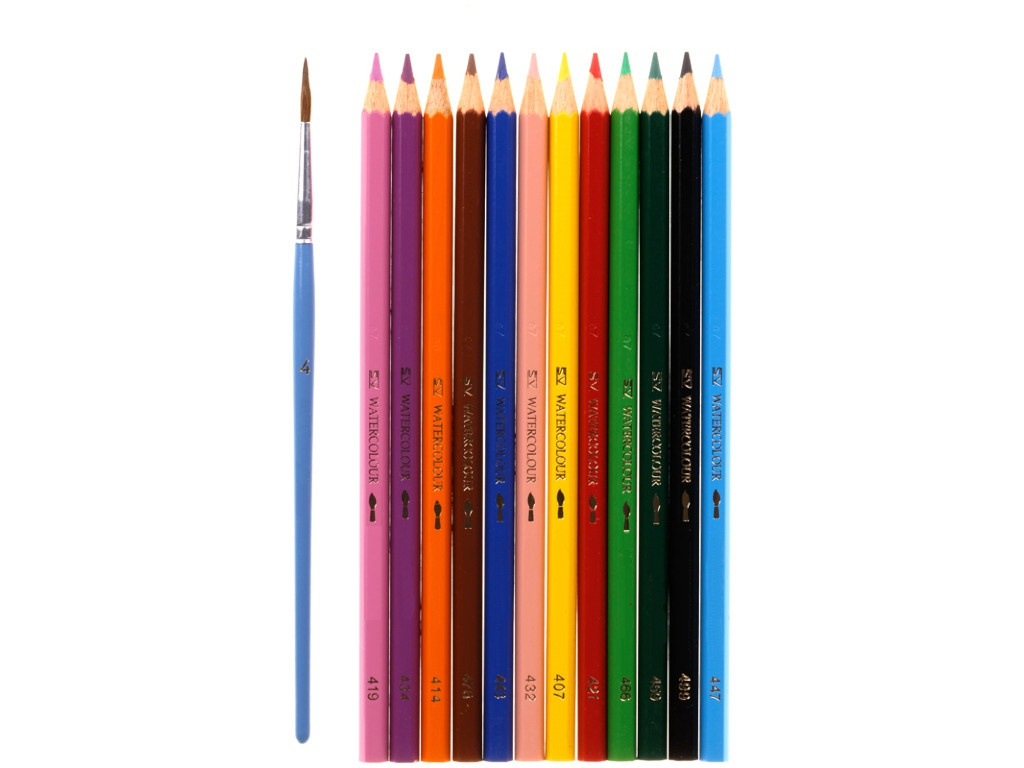 Карандаши акварельные Faber-Castell 12 цветов + кисть 114413