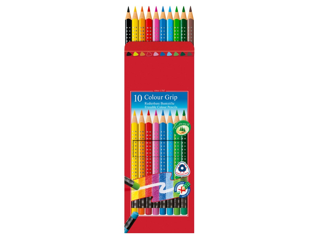 Карандаши цветные Faber-Castell Grip 10 цветов 116613