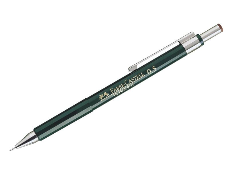 Карандаш механический Faber-Castell TK-Fine 9715 0.5mm с ластиком 136500 faber castell ручка капиллярная ecco pigment 0 7 мм цвет чернил черный