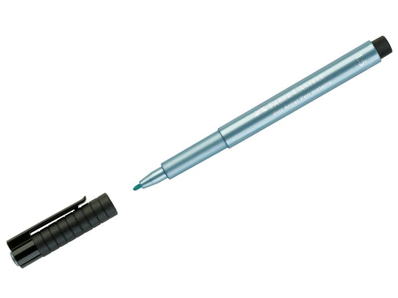 Ручка капиллярная Faber-Castell Pitt Artist Pen Metallic 1.5mm корпус Blue, стержень Blue 167392
