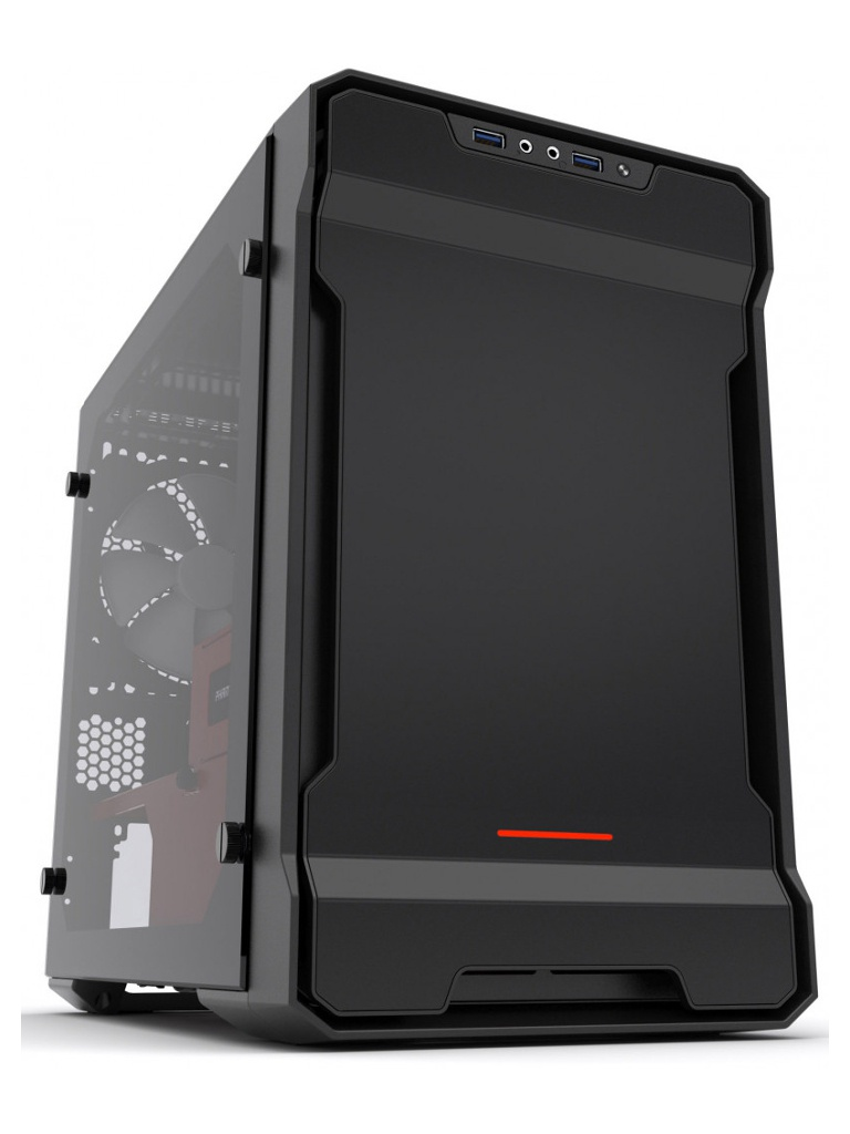 Корпус Phanteks Enthoo Evolv ITX Tempered Glass Mini Black-Red Edition PH_ES215PTG_SRD