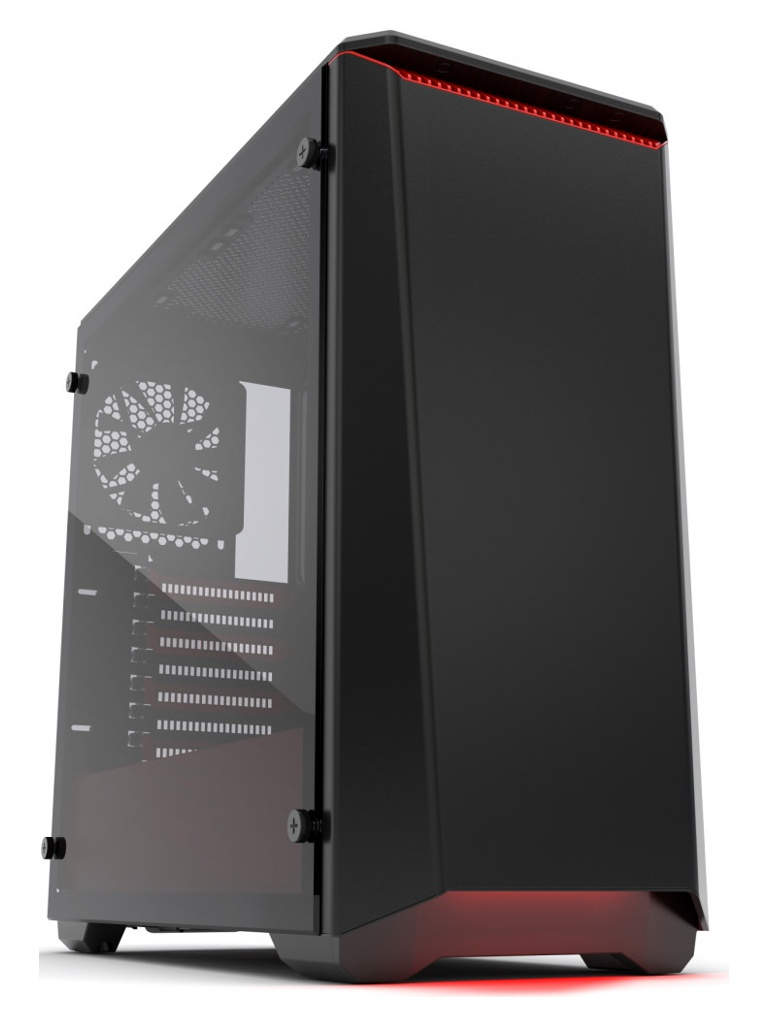 Корпус Phanteks Eclipse P400 Tempered Glass Black/red