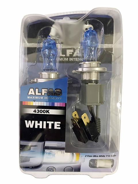 Лампа AVS Alfas Maximum Intensity H4 24V 75/85W T10 4300K 2+2шт A07237S