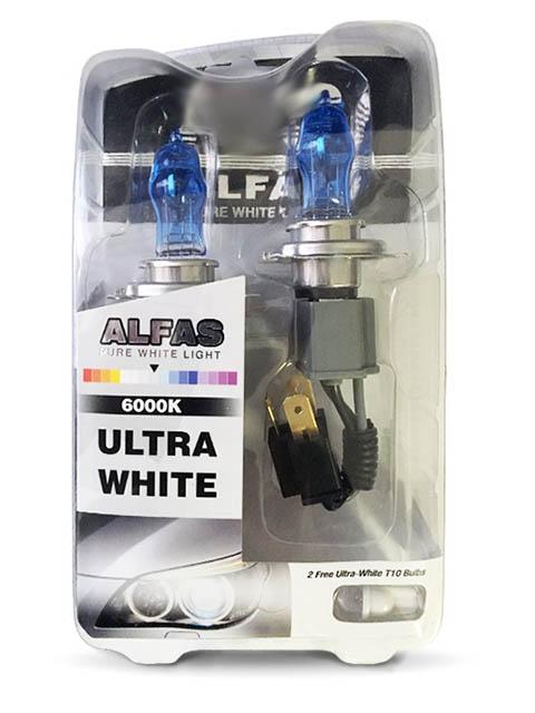 Лампа AVS Alfas Pure-White H11 12V 85W T10 6000К 2+2шт A07242S