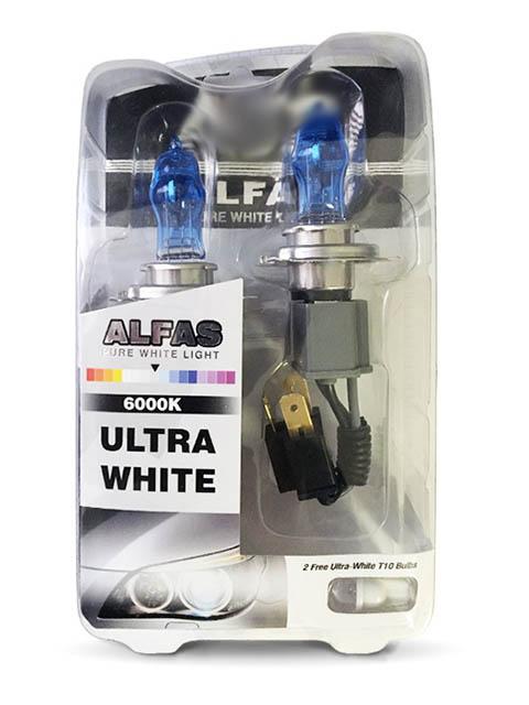 Лампа AVS Alfas Pure-White H4 12V 75/85W T10 6000К 2+2шт A07244S