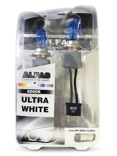 Лампа AVS Alfas Pure-White H7 12V 85W T10 6000К 2+2шт A07245S