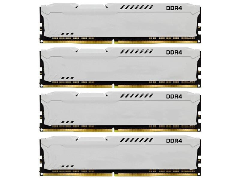 Модуль памяти Kingston HyperX Fury White DDR4 DIMM 2933MHz PC4-23466 CL17 - 32Gb KIT (4x8Gb) HX429C17FW2K4/32