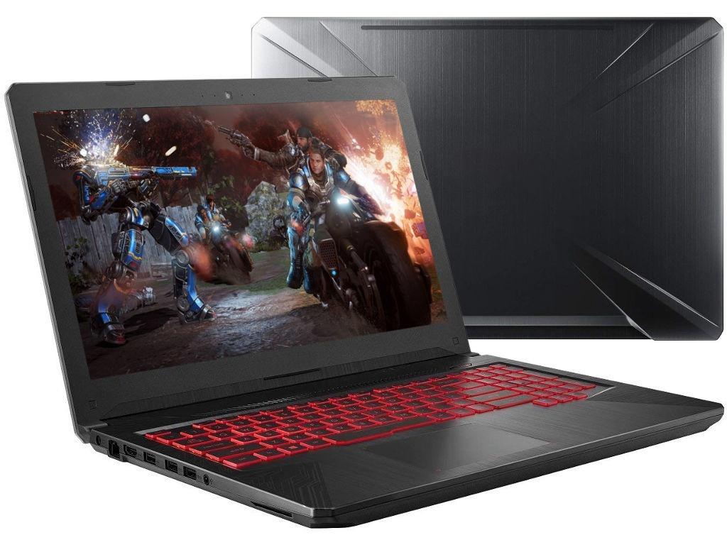 Ноутбук ASUS FX504GD-E41025 Black 90NR00J2-M18340 (Intel Core i5-8300H 2.3 GHz/12288Mb/1000Gb + 128Gb SSD/nVidia GeForce GTX 1050 2048Mb/Wi-Fi/Bluetooth/Cam/15.6/1920x1080/noOS) цена
