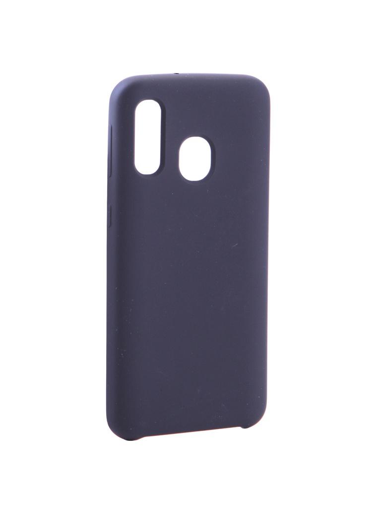 Аксессуар Чехол Innovation для Samsung Galaxy A40 Silicone Black 15375