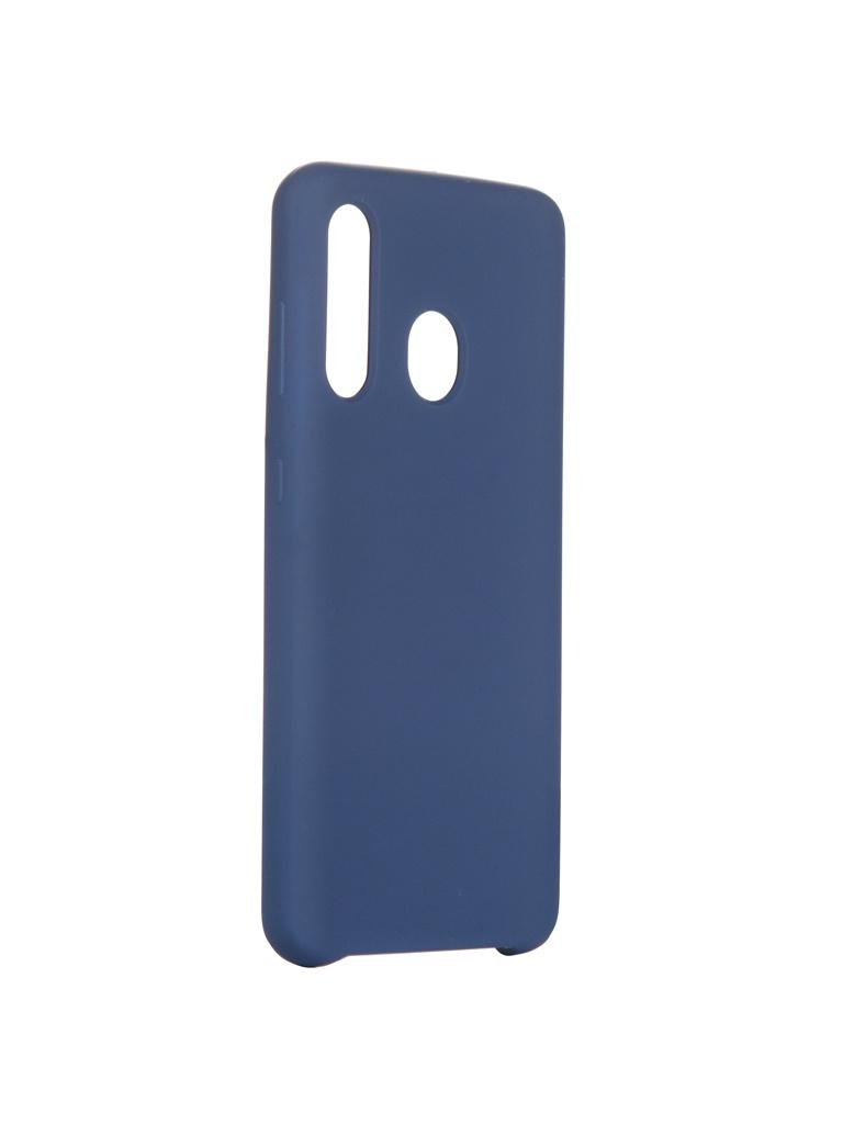 Чехол Innovation для Samsung Galaxy A60 Silicone Blue 16291