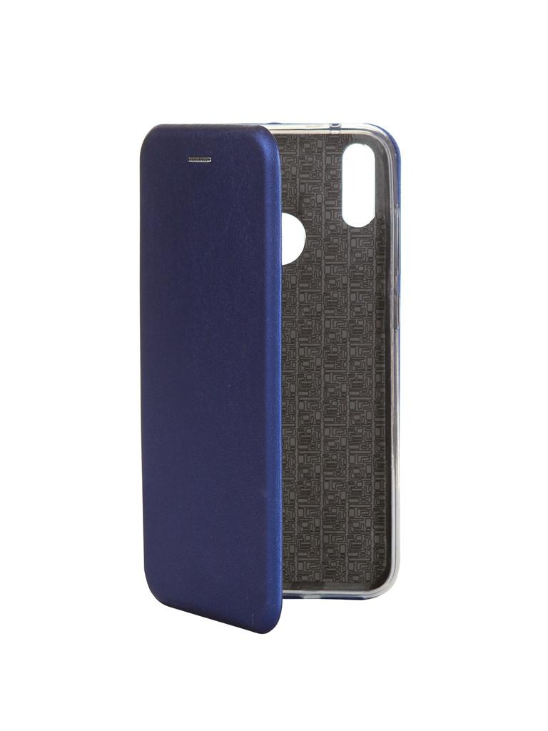 Чехол Innovation для Huawei Y7 2019 Book Silicone Magnetic Blue 15412
