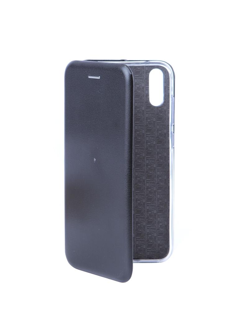 Чехол Innovation для Huawei Y7 2019 Book Silicone Magnetic Black 15410