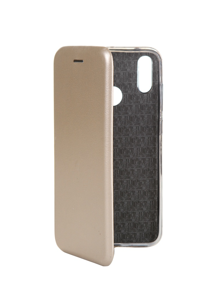 Чехол Innovation для Huawei Y7 Prime 2019 Book Silicone Magnetic Gold 14774