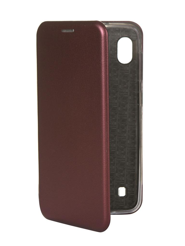 Чехол Innovation для Samsung Galaxy A10 Silicone Book Magnetic Bordo 15272