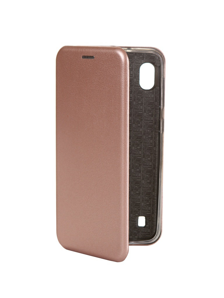 Чехол Innovation для Samsung Galaxy A10 Book Silicone Magnetic Rose Gold 15274