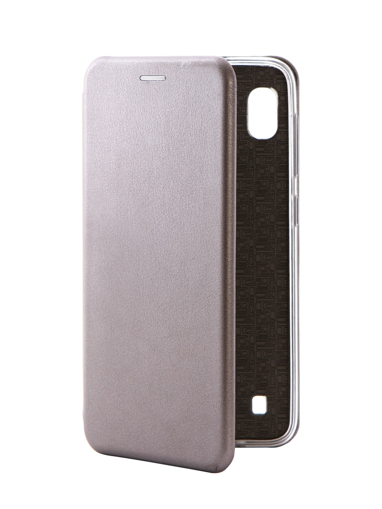 Аксессуар Чехол Innovation для Samsung Galaxy A10 Book Silicone Magnetic Silver 15275 цена и фото