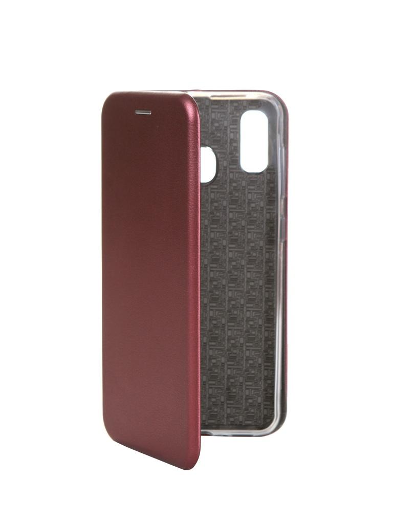 Чехол Innovation для Samsung Galaxy A20 / A30 Book Silicone Magnetic Bordo 15490