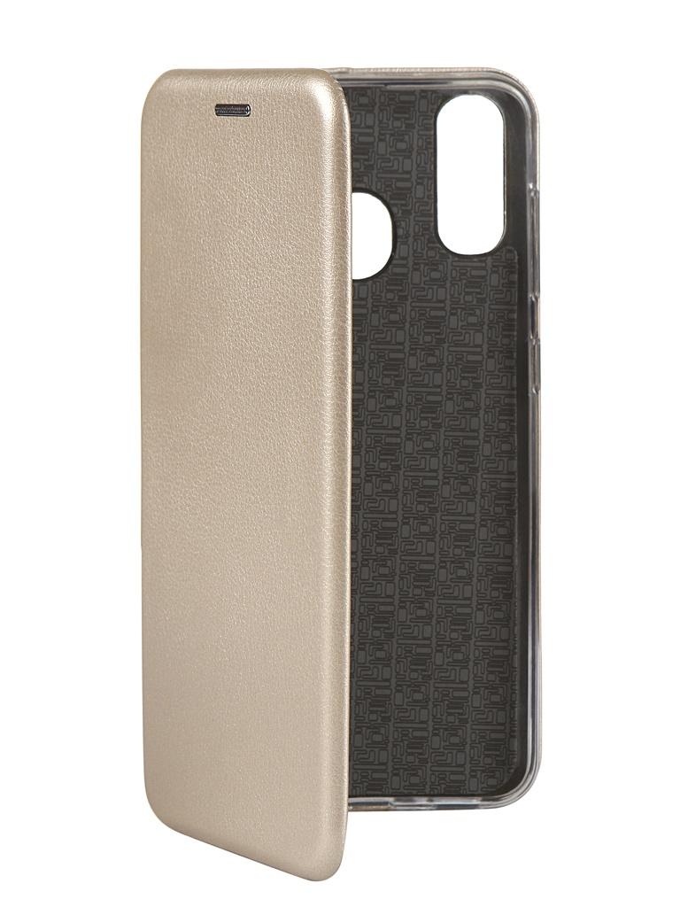 Чехол Innovation для Samsung Galaxy A20 / A30 Book Silicone Magnetic Gold 15485
