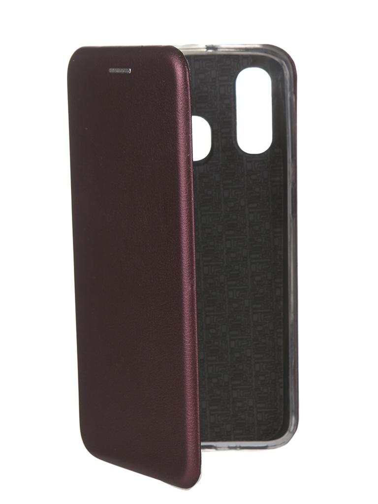 Чехол Innovation для Samsung Galaxy A40 Book Silicone Magnetic Bordo 15284