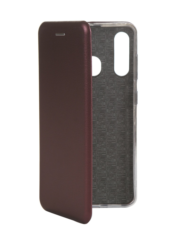 Чехол Innovation для Samsung Galaxy A60 Book Silicone Magnetic Bordo 15498