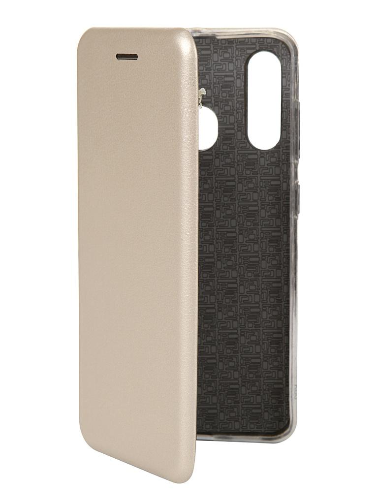 Чехол Innovation для Samsung Galaxy A60 Book Silicone Magnetic Gold 14494