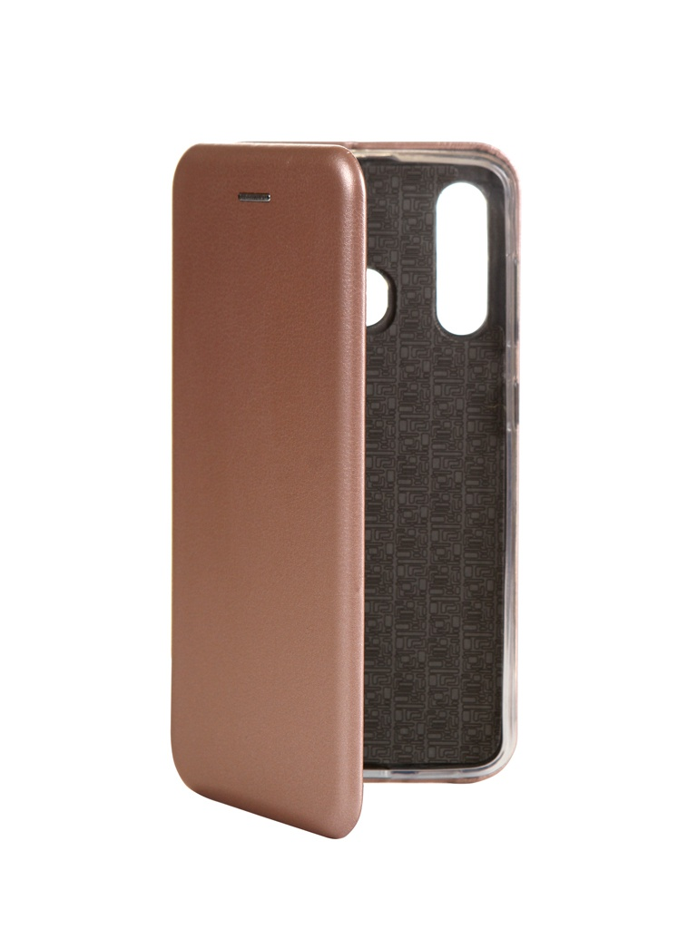 Чехол Innovation для Samsung Galaxy A60 Book Silicone Magnetic Rose Gold 15495