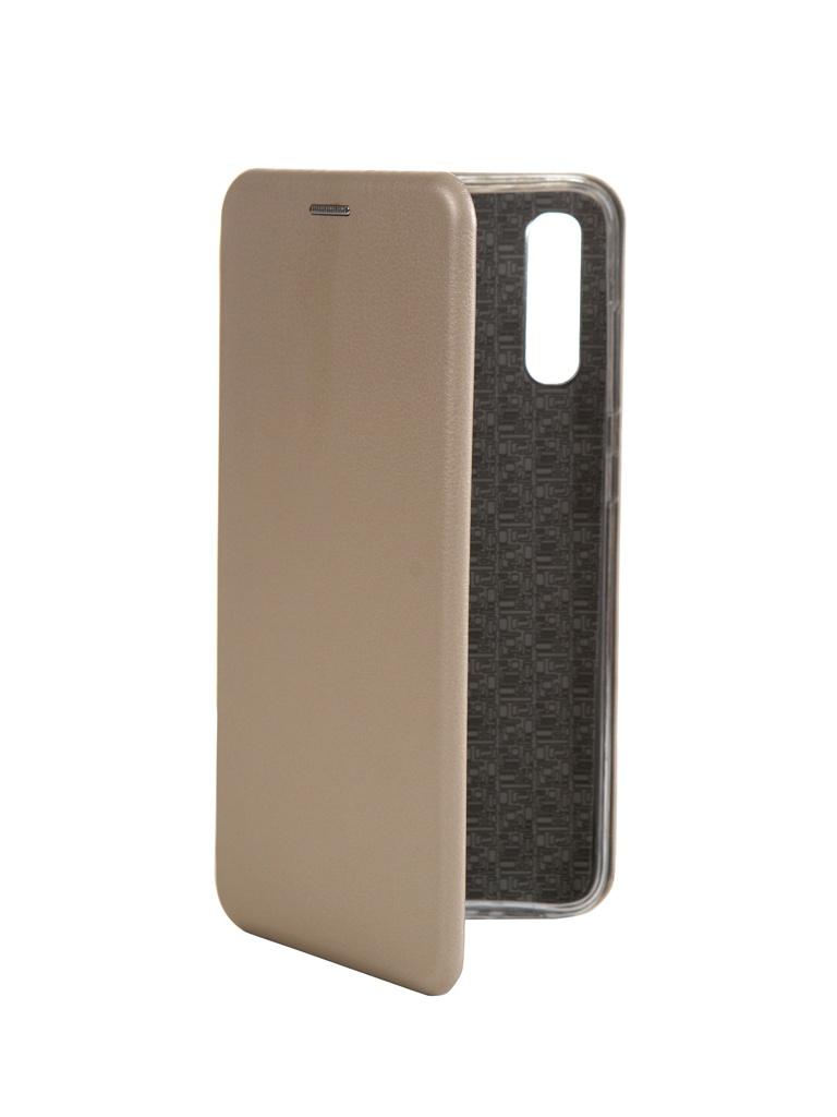 Чехол Innovation для Samsung Galaxy A70 Book Silicone Magnetic Gold 15477 фото