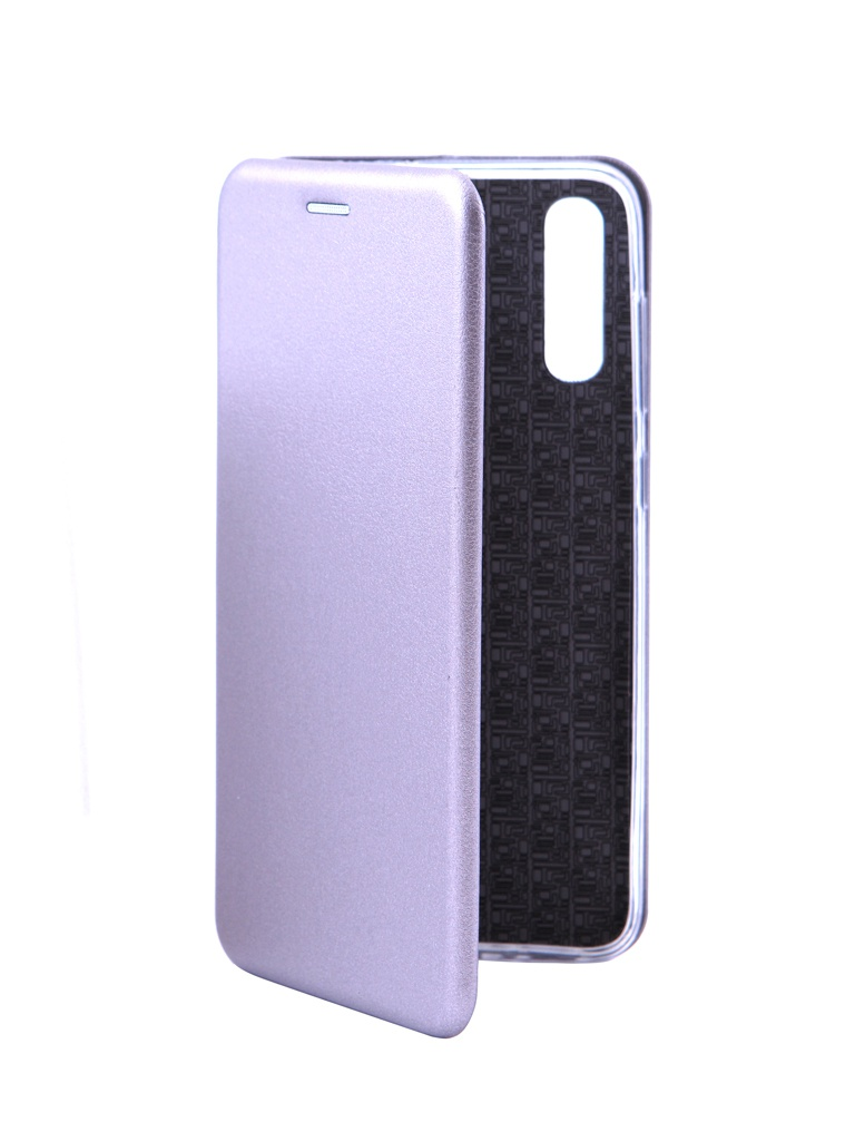 Чехол Innovation для Samsung Galaxy A70 Book Silicone Magnetic Silver 15475