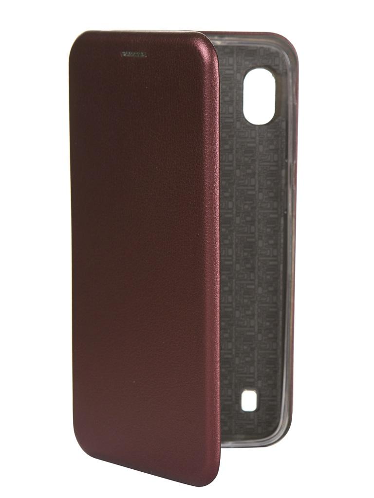 Чехол Innovation для Samsung Galaxy M10 Book Silicone Magnetic Bordo 15523