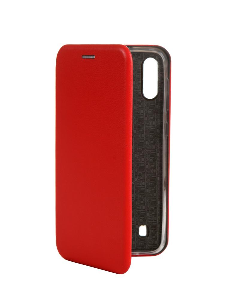 Чехол Innovation для Samsung Galaxy M10 Book Silicone Magnetic Red 15522