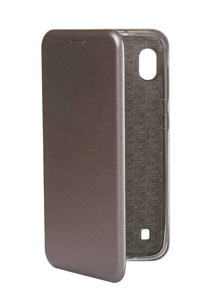 Чехол Innovation для Samsung Galaxy M10 Book Silicone Magnetic Silver 15517