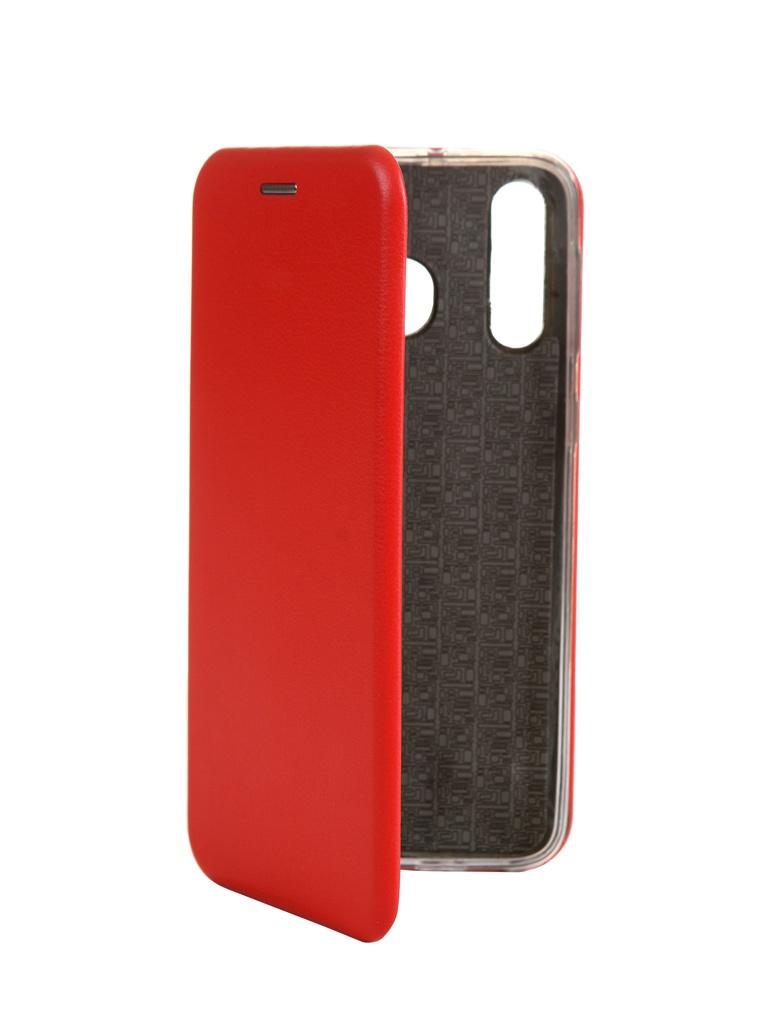 Zakazat.ru: Чехол Innovation для Samsung Galaxy M30 Book Silicone Magnetic Red 15506