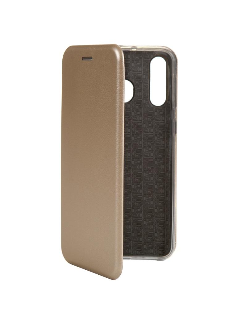 Zakazat.ru: Чехол Innovation для Samsung Galaxy M30 Book Silicone Magnetic Gold 15503